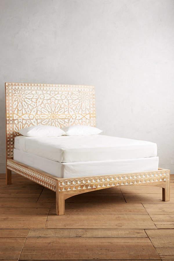 Anthropologie Handcarved Albaron Bed