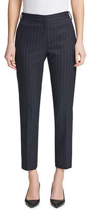Donna Karan Pinstripe Skinny Ankle Pants