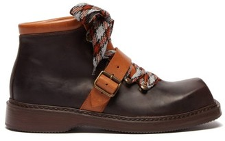 Preen by Thornton Bregazzi Zen Square Toe Leather Boots - Womens - Brown