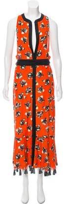 Proenza Schouler Floral Print Maxi Dress w/ Tags