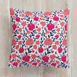 Pink Blossom Square Pillow