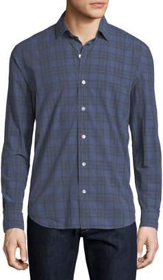 Neiman Marcus Culturata Plaid Cotton Shirt