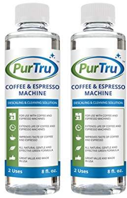 Keurig Coffee and Espresso Machine Descaling and Cleaning Solution (2 Pack) - All Natural Descaler and Cleaner For