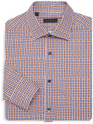 Saks Fifth Avenue Bright Plaid Shirt