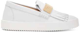 Giuseppe Zanotti White May London Moccasin Sneakers $695 thestylecure.com