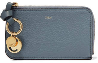 Chloé Alphabet Textured-leather Wallet - Blue