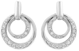 Susan Caplan Vintage 1980s Vintage Nina Ricci Swarovski Crystal Small Hoop Clip-on Earrings