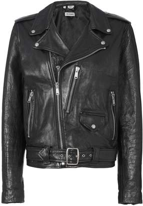 Oversized Black Leather Jacket