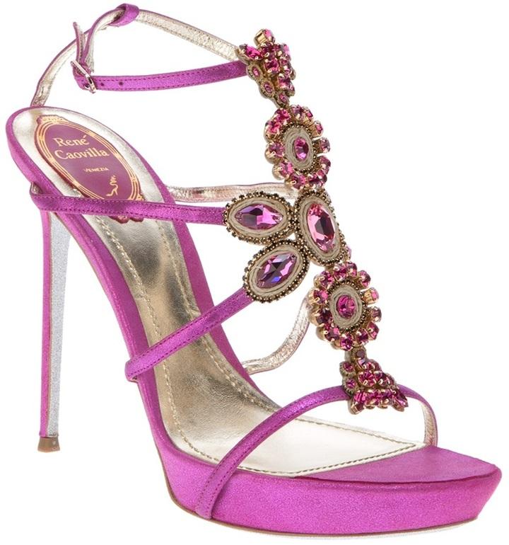 Rene Caovilla jewel embellished sandal