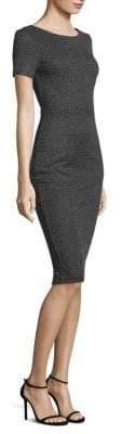 Max Mara Dash-Print Ruched Jersey Dress