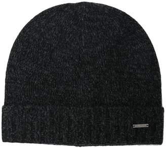 HUGO BOSS logo knitted beanie hat
