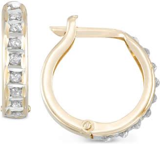 Diamond Fascination Diamond Accent Hoop Earrings in 10k Gold