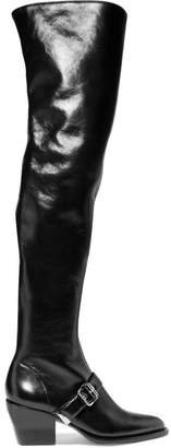 Chloé Rylee Leather Over-the-knee Boots - Black
