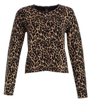 Saks Fifth Avenue COLLECTION Leopard Print Doubleface Cropped Jacket
