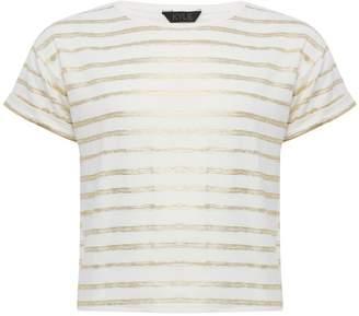 M&Co Teens' foil stripe t-shirt