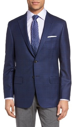 Men's Hickey Freeman Beacon Classic Fit Plaid Wool Sport Coat $1,195 thestylecure.com