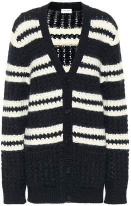 Saint Laurent Wool, mohair and alpaca cardigan