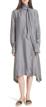 See by Chloe Tie Neck Shirtdress