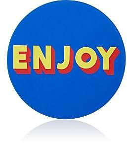 "Lisa Perry Reversible ""Enjoy"" Vinyl Placemat"
