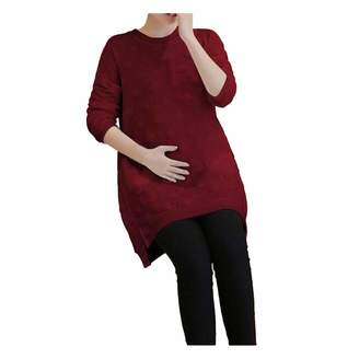 Xinvision Maternity Skirts - Women Pregnant Elasticity Long Sleeve Bottom Dress