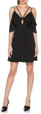 Laundry by Shelli Segal Cold-Shoulder Fit-and-Flare Dress