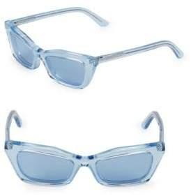 Balenciaga Narrow 57MM Rectangular Sunglasses