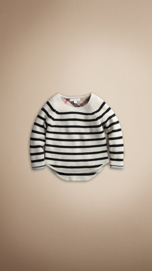 Burberry Nautical Striped Wool Sweater