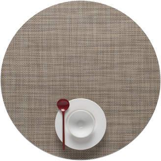 Lulu & Georgia Chilewich Mini Basketweave Round Placemat, Linen (Set of 4)