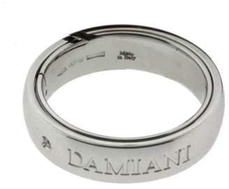 Damiani 18K White Gold & 0.02ct Diamond Ring Sz 9.75
