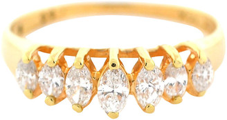 One Kings Lane Vintage 14K Gold & Marquise Diamond Ring - BRP Luxury/OKL