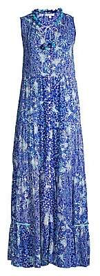 Poupette St Barth Women's Clara Printed Sleeveless Maxi Dress