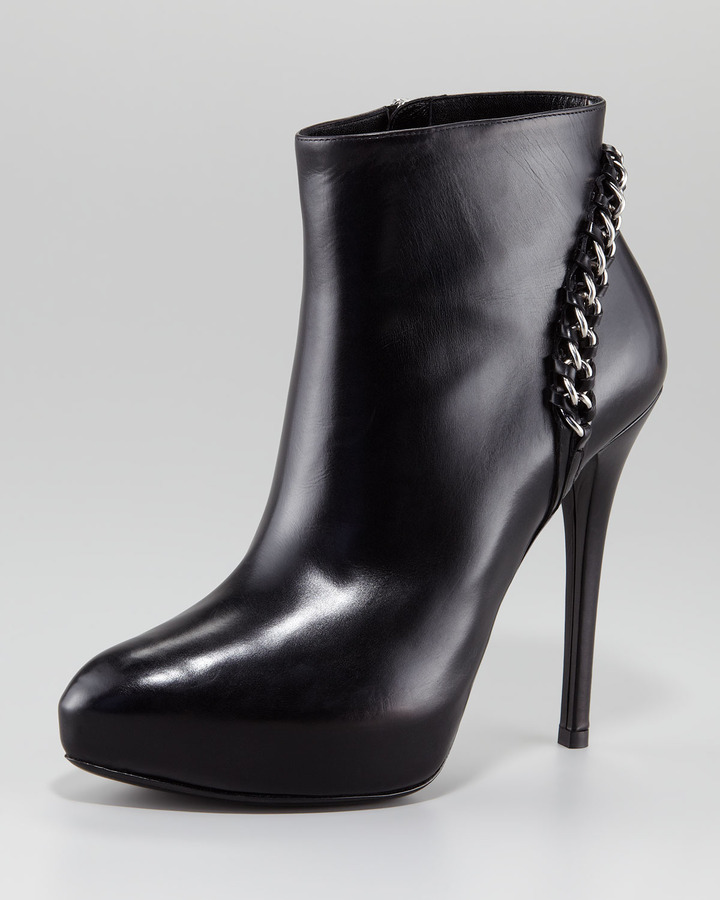 Ralph Lauren Becka Chain Heel Ankle Boot