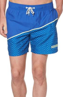 Original Penguin Angled Pattern Swim Trunks