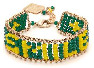 Rosantica By Michela Panero - Smile Beaded Bracelet - Womens - Green
