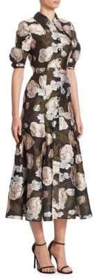 Erdem Gisella Button-Front Midi Dress