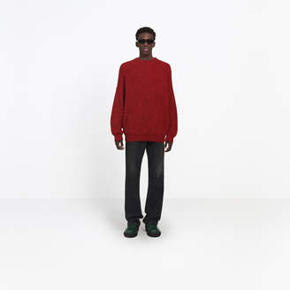 Balenciaga Ribbed relaxed fit sweater