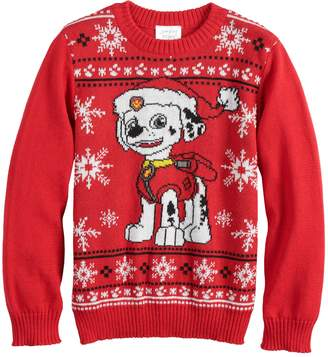 Nickelodeon Boys 4-8 Jumping Beans Paw Patrol Marshall Knit Holiday Sweater
