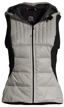 Blanc Noir Reflective Inset Feather Vest