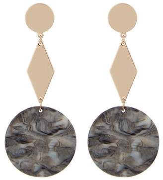 Ettika Resin Geo Dangle Earrings