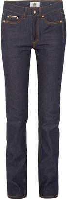 Eytys Cypress Raw High-rise Skinny Jeans - Dark denim
