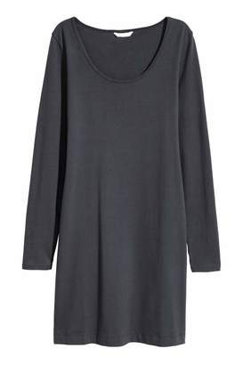 H&M Short Jersey Dress - Dark gray - Women