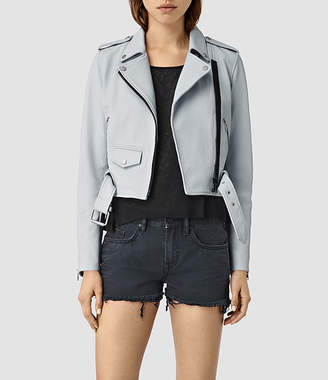 AllSaints Baron Leather Biker Jacket