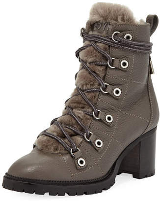 Jimmy Choo Hillary Shearling Fur-Lined Hiker Booties