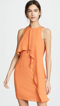 Halston Sleeveless High Neck Dress