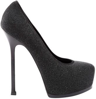 Saint Laurent Trib Too glitter heels