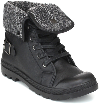 Black Fold-Over Casper Boot $38 thestylecure.com