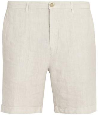 120% Lino 120 LINO Straight-leg linen shorts