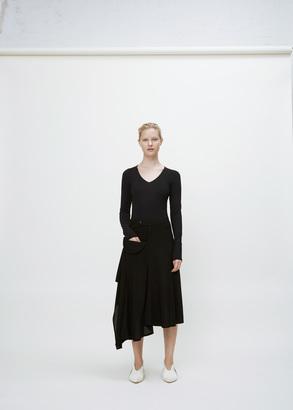 Yohji Yamamoto black flared wrap skirt $970 thestylecure.com