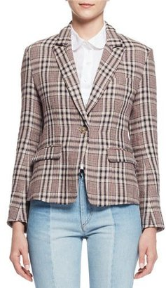 Etoile Isabel Marant Jayden Plaid Linen Blazer, Ecru $460 thestylecure.com