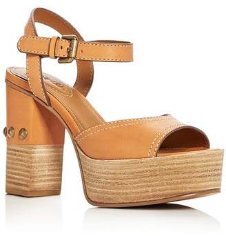 See by Chloe Women's Leather High-Heel Platform Sandals